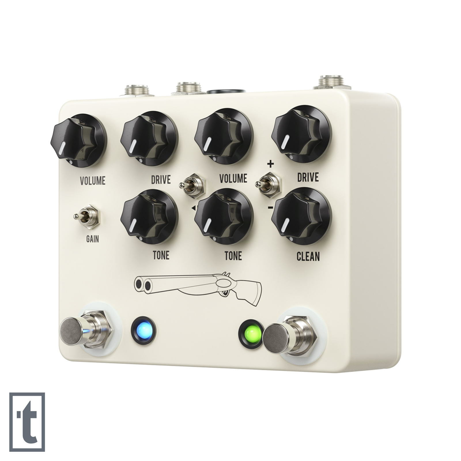 JHS Double Barrel V4 2-in-1 Dual Overdrive Pedal