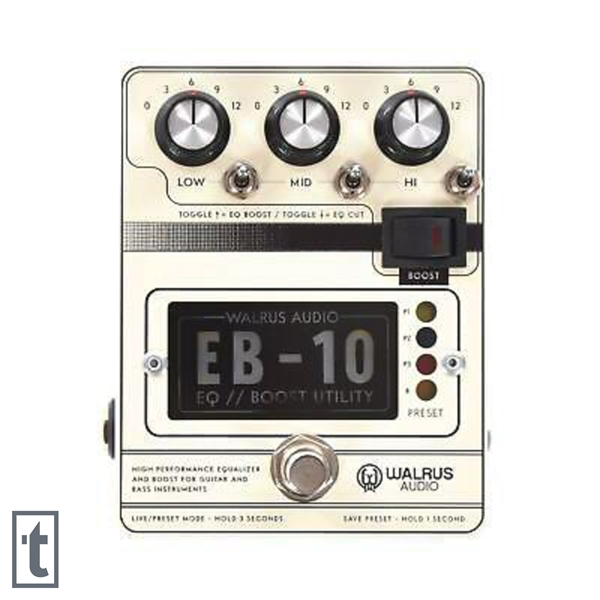 Walrus Audio EB-10 Preamp/EQ/Boost Pedal - Cream
