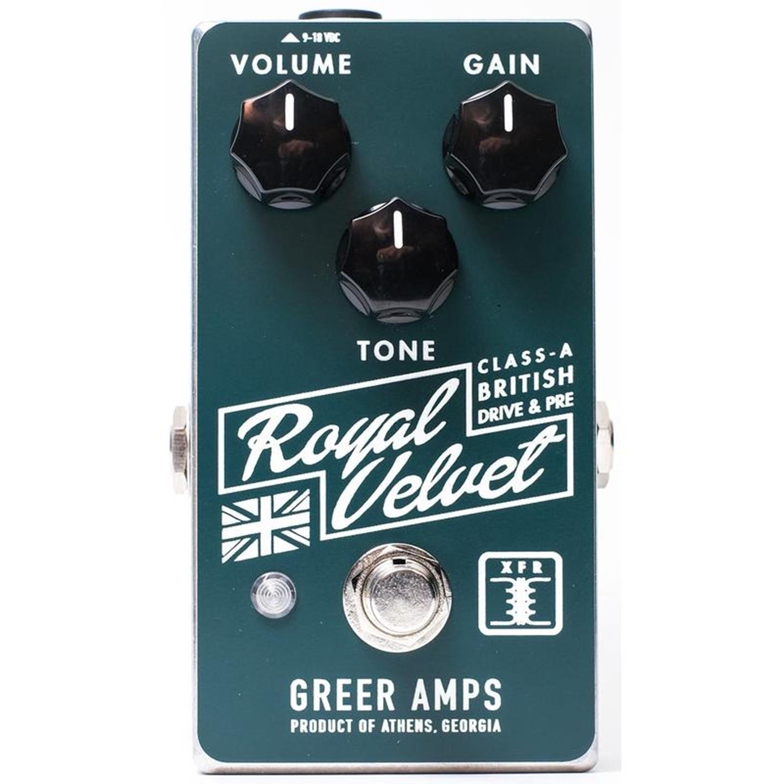 Greer Amps ROYAL VELVET OVERDRIVE Pedal