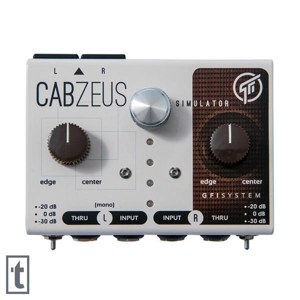 GFI System CABZEUS Stereo Speaker Simulator + DI Pedal