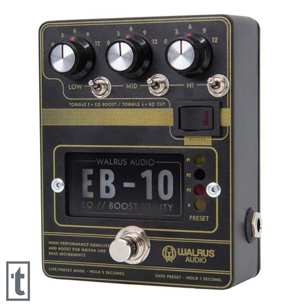Walrus Audio EB-10 Preamp/EQ/Boost Pedal - Black