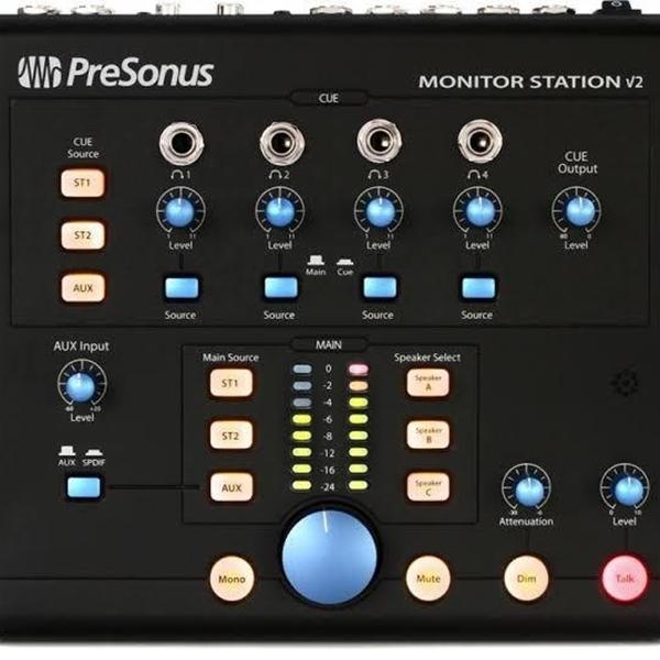 Centro de Controle de Studio com S/PDIF Presonus Monitor Station V2