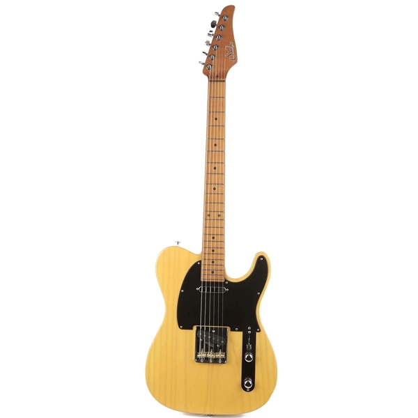 Suhr Limited Edition Classic T Paulownia, Trans Vintage Yellow, Hardshell Case